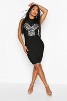 boohoo Boutique Bandage Jewel Front Mini Dress