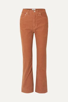 A Gold E Agolde AGOLDE - Vintage Cotton-blend Corduroy Flared Pants - Tan