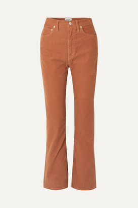 AGOLDE Vintage Cotton-blend Corduroy Flared Pants - Tan