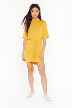 Nasty Gal Womens Tee BT Belted Mini Dress - Gold