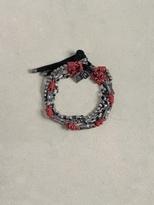 John Varvatos Leather & Silver Mix Bracelet