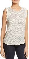 Vero Moda Gina Ruffle Trim Sleeveless Top