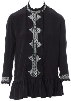 Vilshenko Black Silk Top for Women