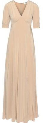Diane von Furstenberg Avianna Crystal-embellished Silk Crepe De Chine Gown