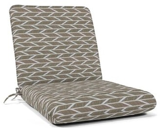Charlton Home Indoor/Outdoor Rocking Chair Cushion Charlton Home Fabric: Gray