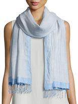 Eileen Fisher Hand-Loomed Wool/Silk Pathways Scarf