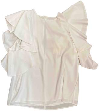 C/Meo White Polyester Tops