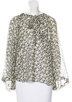 Elizabeth and James Printed Bell Sleeve Top