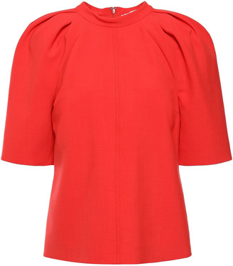 Victoria Victoria Beckham Pleated Stretch-crepe Top