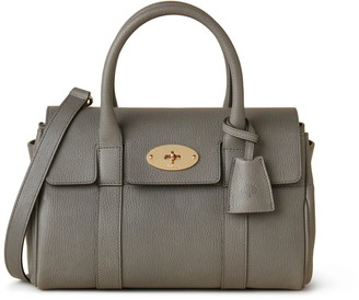Mulberry Soft Small Bayswater Charcoal Heavy Grain