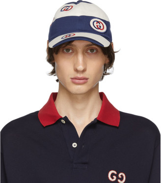 Gucci Blue and White Stripe Cap