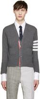 Thom Browne Grey Cashmere Striped Armband Cardigan