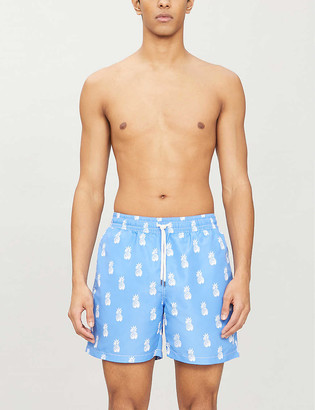 Polo Ralph Lauren Traveller pineapple-print logo-embroidered swim shorts