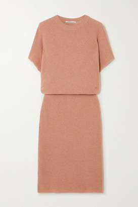 Agnona Cashmere Midi Dress - Blush