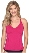 Nike Iconic Heather V-Back Tankini Top Women's Swimwear