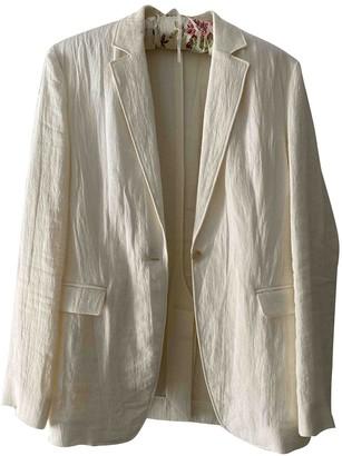Nicole Farhi Ecru Linen Jacket for Women