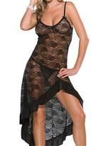 YouYaYZAI Women (S-6XL) Spaghetti Lace Dress Babydoll Sexy Lingerie Nightgown