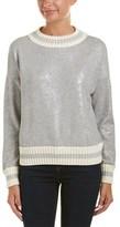 Moncler Maglia Metallic Crewneck Sweatshirt.