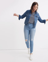 Madewell Tall Curvy High-Rise Skinny Jeans in Ontario: Distressed-Hem Edition