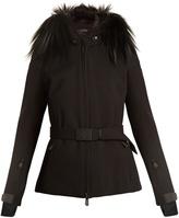 Moncler Fur-trim hooded twill-jacket