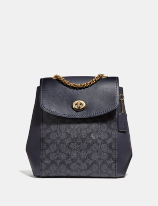 Coach Parker Convertible Backpack In Signature Canvas