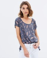 Sass Keilani Feather Foil Tee