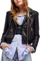 Free People Modern Faux Leather Bomber Jacket