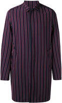 Wooyoungmi striped coat - men - Elastodiene/Polyester/Wool - 44