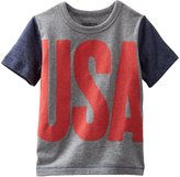 Osh Kosh USA Tee (Baby) - Heather-12 Months