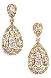 Adriana Orsini Women's Pavé Crystal Small Pear Drop Earrings/Goldtone