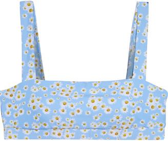 Onia Zoe Floral-print Bikini Top