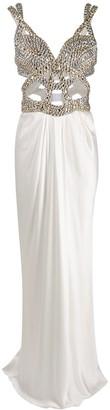 Alberta Ferretti Stud Detail Cut-Out Dress