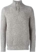 N.Peal waffle knit marled sweater