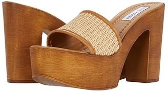 Steve Madden Marisol Heeled Sandal (Natural Raffia) Women's Shoes