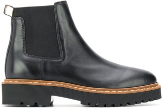 Hogan Leather Ankle Boots