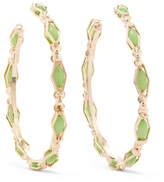 Rosantica Destino Gold-tone Crystal Hoop Earrings - Green