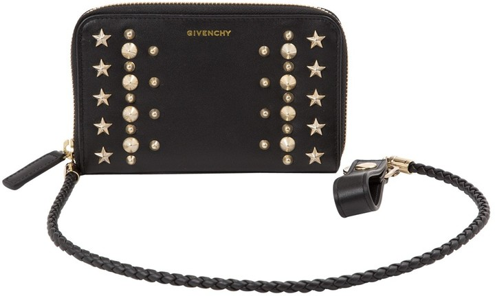 Givenchy Black Leather Wallets