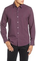 Zachary Prell Vengerko Regular Fit Plaid Button-Up Sport Shirt