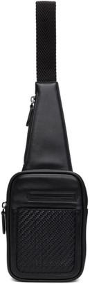 Ermenegildo Zegna Black Leather Insta Pouch