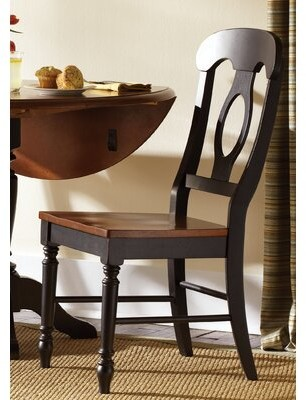 August Grove Perna Dining Chair (Set of 2 Color: Anchor Black