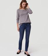 LOFT Petite Modern Straight Leg Jeans in Rich Mid Indigo Wash