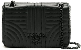 Prada small Diagramme quilted shoulder bag