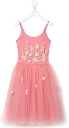 Tutu Du Monde Sweet Dreams floral-applique tutu dress