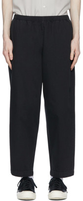 N.Hoolywood Black Denim Elasticized Waist Trousers
