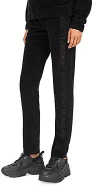 The Kooples Burnout Velvet Logo Jogger Pants