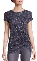 Stateside Starry Night Printed Knot Front Tee