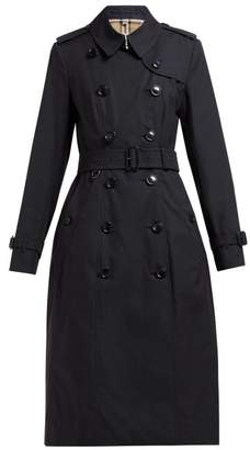 Burberry Chelsea Belted Double-breasted Cotton Trench Coat - Womens - Navy