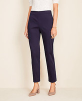 Ann Taylor The Petite Side Zip Pant in Cotton Sateen