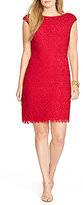 Lauren Ralph Lauren Plus Crochet Floral Lace Dress