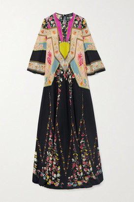 Etro Printed Silk-crepon Gown - Black